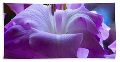 Lilac Flower Beach Sheet
