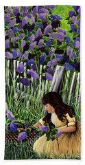 Lillian's Lilacs Beach Towel