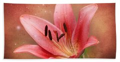 Beach Towel featuring the photograph Lily by Ann Lauwers
