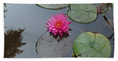 Lily Flower Beach Towel by Michael Porchik