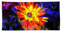 Lily In Vivd Colors Beach Towel