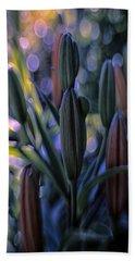 Lily Light Beach Sheet by Jean OKeeffe Macro Abundance Art
