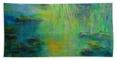 Lily Pond Tribute To Monet Beach Towel