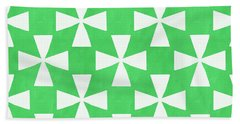 Lime Twirl Beach Sheet by Linda Woods