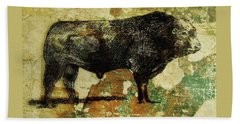 French Limousine Bull 11 Beach Towel by Larry Campbell