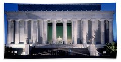 Lincoln Memorial At Dusk, Washington Beach Towel by Panoramic Images