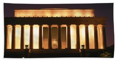 Lincoln Memorial Washington Dc Usa Beach Sheet by Panoramic Images