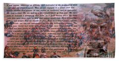 Lincoln's Gettysburg Address Beach Sheet