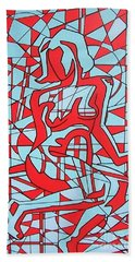 Lined Girl Beach Towel by Thomas Valentine