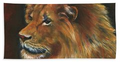 Beach Sheet featuring the painting Lion by Alga Washington