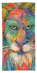 Lion Explosion Beach Sheet