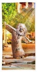 Lion Fountain Beach Sheet