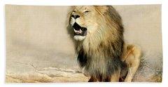 Lion Beach Towel by Heike Hultsch