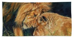 Lion  Love Beach Towel