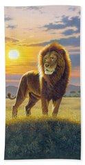 Lion Beach Towel by MGL Studio - Chris Hiett