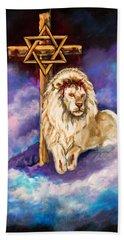 Lion Of Judah Original Painting Forsale Beach Sheet