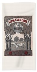 Antique Lion Yarn Book Beach Towel