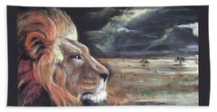 Lions Domain Beach Towel
