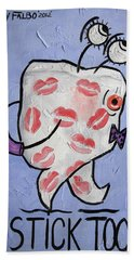 Lipstick Tooth Beach Towel