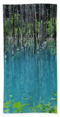 Liquid Forest Beach Towel