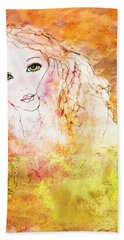 Beach Sheet featuring the digital art Listen To The Colour Of Your Dreams by Barbara Orenya