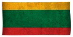 Lithuania Flag Vintage Distressed Finish Beach Towel