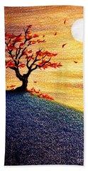Little Autumn Tree Beach Towel