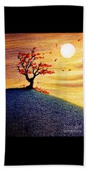 Little Autumn Tree Beach Sheet