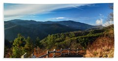 Beach Towel featuring the photograph Little Cataloochee Overlook In Summer by Debbie Green