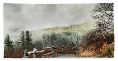 Beach Towel featuring the photograph Little Cataloochee Overlook In The Great Smoky Mountains by Debbie Green