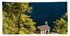 Little Chapel In Ticino With Beautiful Green Trees Beach Sheet