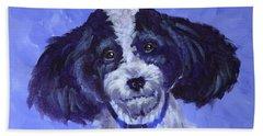 Little Dog Blue Beach Towel
