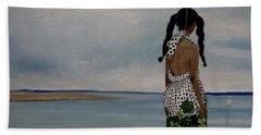 Little Girl On The Beach Beach Towel