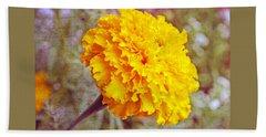 Beach Sheet featuring the photograph Little Golden  Marigold by Kay Novy