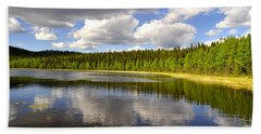 Beach Towel featuring the photograph Little Lost Lake by Cathy Mahnke