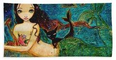 Little Mermaid Beach Sheet by Shijun Munns