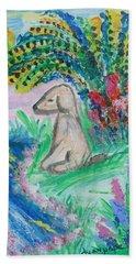 Little Sweet Pea Beach Towel by Diane Pape