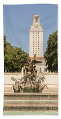 Littlefield Fountain And University Of Texas Tower Beach Towel