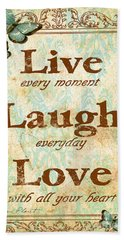 Live-laugh-love Beach Towel