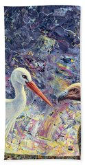Living Between Beaks Beach Towel by James W Johnson