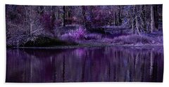 Living In A Purple Dream Beach Towel by Linda Unger