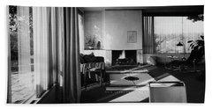 Living Room In Mr. And Mrs. Walter Gropius' House Beach Towel