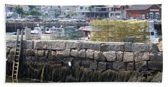 Beach Towel featuring the photograph New England Lobster by Eunice Miller