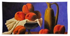 Local Peaches Oil Painting Beach Towel