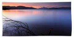 Loch Lomond Sunset Beach Towel