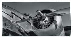 Lockheed 12a Electra Junior  Beach Towel