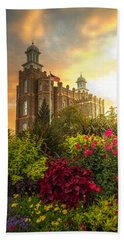 Logan Temple Garden Beach Towel