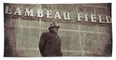 Lombardi At Lambeau Beach Towel