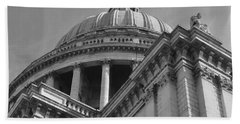 London St Pauls Cathedral Beach Towel by Cheryl Miller