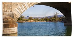 London Bridge At Lake Havasu City Beach Sheet